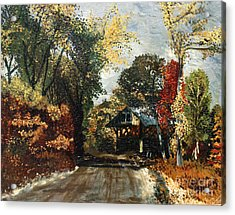 The Covered Bridge Acrylic Print by Elena Irving
