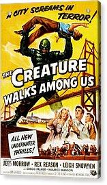 The Creature Walks Among Us, Don Acrylic Print by Everett