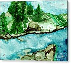 The Creek Bend Acrylic Print by Marsha Heiken