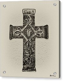 The Cross Acrylic Print by Bill Cannon