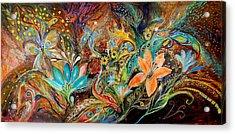 The Dance Of Lizards Acrylic Print by Elena Kotliarker