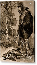 The Death Of Pontiac, 1769 Acrylic Print by Photo Researchers