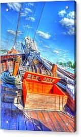 The Deck Acrylic Print by Barry R Jones Jr