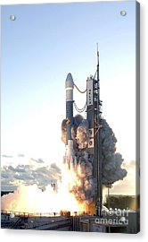 The Delta II Rocket Lifts Acrylic Print by Stocktrek Images