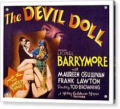 The Devil Doll, Frank Lawton, Maureen Acrylic Print by Everett