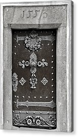 The Door - Ceske Budejovice Acrylic Print by Christine Till
