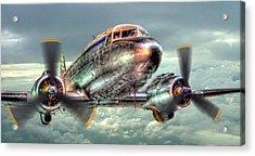 The Douglas C47 Dakota - Hdr Acrylic Print by Colin J Williams Photography