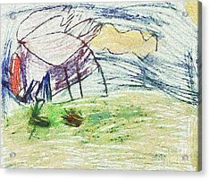 The Drawing Work Acrylic Print by Odon Czintos
