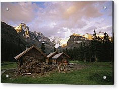 The Elizabeth Parker Hut, A Log Cabin Acrylic Print by Michael Melford