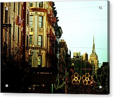 The Empire State Building And Little Italy - New York City Acrylic Print by Vivienne Gucwa