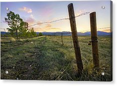 The End Of The Line Acrylic Print by Tyler Porter