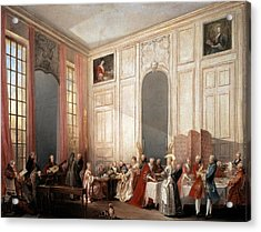 The English Tea In The Salon With Four Mirrors Painting Acrylic Print by Photos.com
