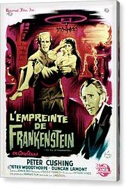 The Evil Of Frankenstein Aka Lempreinte Acrylic Print by Everett