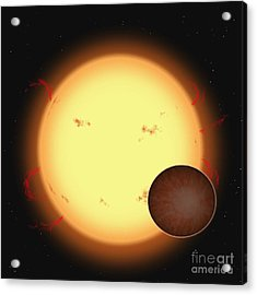 The Extrasolar Planet Hd 209458 B Acrylic Print by Ron Miller