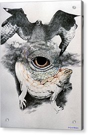 The Eye Of Power Acrylic Print by Kyra Belan