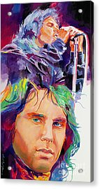 The Faces Of Jim Morrison Acrylic Print by David Lloyd Glover