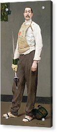 The Fencing Master Acrylic Print by Julius Gari Melchers