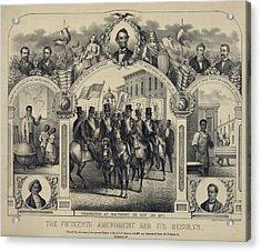 The Fifteenth Amendment Banning Voting Acrylic Print by Everett