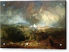 The Fifth Plague Of Egypt Acrylic Print by Joseph Mallord William Turner