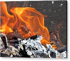 The Fire Within Us Acrylic Print by Valia Bradshaw