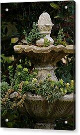 The Fountain Painterly Acrylic Print by Ernie Echols