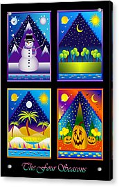 The Four Seasons Acrylic Print by Nancy Griswold