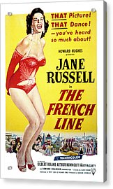 The French Line, Jane Russell, 1954 Acrylic Print by Everett