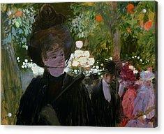 The Garden In Paris Acrylic Print by Jean Louis Forain