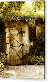 The Garden Shed Acrylic Print by MaryJane Armstrong