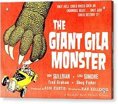 The Giant Gila Monster, Half-sheet Acrylic Print by Everett