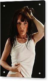 The Girl With Wet Hair Acrylic Print by T Monticello
