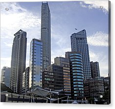 Buildings Acrylic Print featuring the photograph The Glass Age by Roberto Alamino