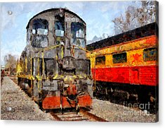 The Golden Age Of Railroads . 7d11588 Acrylic Print by Wingsdomain Art and Photography