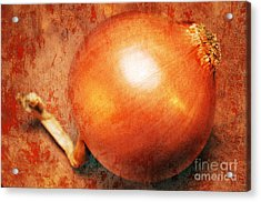 The Golden Onion Acrylic Print by Andee Design