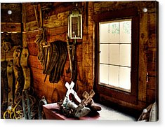The Granary At Fort Nisqually Acrylic Print by David Patterson