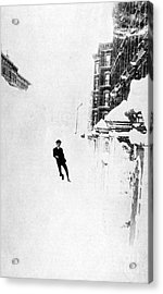 The Great Blizzard, Nyc, 1888 Acrylic Print by Science Source