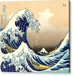 The Great Wave Acrylic Print by Pg Reproductions