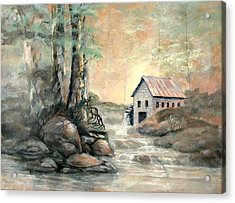 The Grist Mill Acrylic Print by Gary Partin