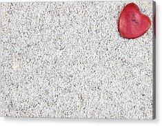 The Heart In The Sand Acrylic Print by Joana Kruse