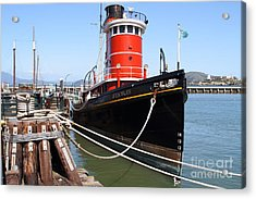 The Hercules . A 1907 Steam Tug Boat At The Hyde Street Pier In San Francisco California . 7d14137 Acrylic Print by Wingsdomain Art and Photography