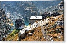 The House At The Lake Acrylic Print by Martin Marinov