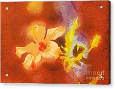 The Iris Flower Acrylic Print by Odon Czintos