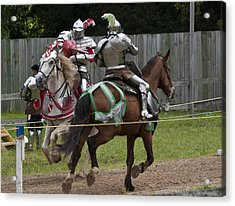The Joust I Acrylic Print by Charles Warren