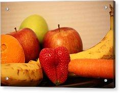 The Joy Of Fruit At Bedtime Acrylic Print by Andrea Nicosia