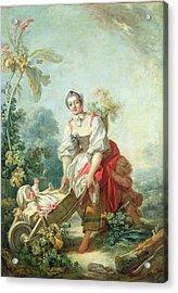 The Joys Of Motherhood Acrylic Print by Jean-Honore Fragonard