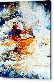 The Kayak Racer 19 Acrylic Print by Hanne Lore Koehler