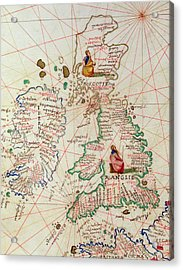 The Kingdoms Of England And Scotland Acrylic Print by Battista Agnese