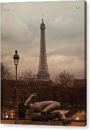The Lady Of The Tuileries Acrylic Print by Stephanie Benjamin