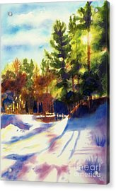 The Last Traces II Acrylic Print by Kathy Braud
