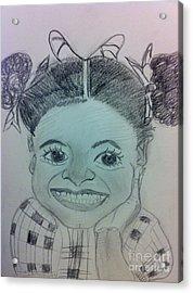 The Late Jahessye Shockley Acrylic Print by Charita Padilla